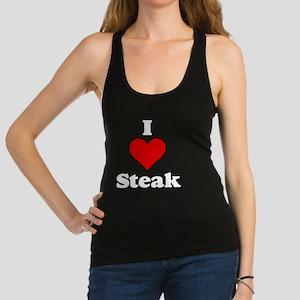 I heart steak white Racerback Tank Top