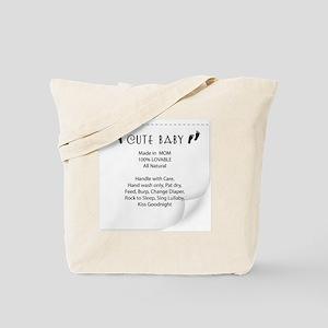 Cute Baby Tag Tote Bag