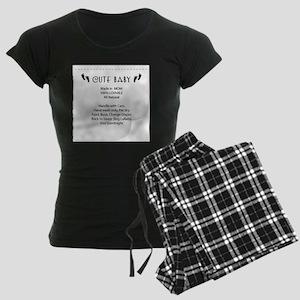 Cute Baby Tag Women's Dark Pajamas