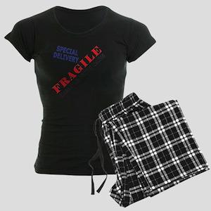 Fragile Baby Shirt Back Women's Dark Pajamas