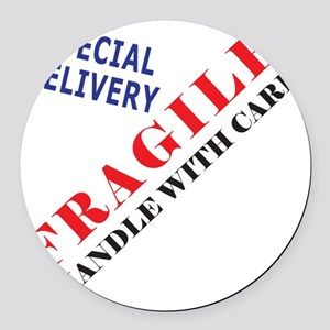 Fragile Baby Shirt Back Round Car Magnet