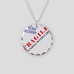Fragile Baby Shirt Back Necklace Circle Charm