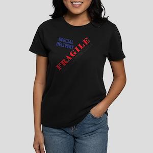 Fragile Baby Shirt Back Women's Dark T-Shirt