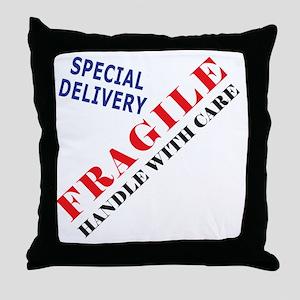 Fragile Baby Shirt Back Throw Pillow