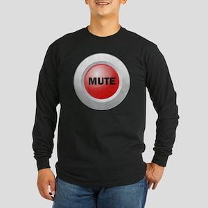 Mute Button Long Sleeve Dark T-Shirt