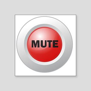 """Mute Button Square Sticker 3"""" x 3"""""""