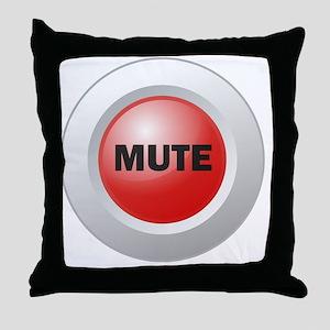 Mute Button Throw Pillow