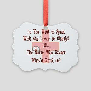 Funny Nurse Picture Ornament
