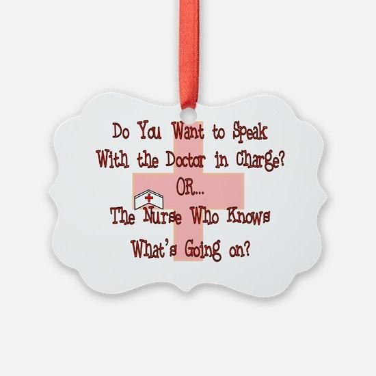 Funny Nurse Ornament