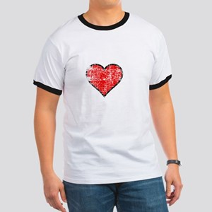I heart steak white vintage Ringer T