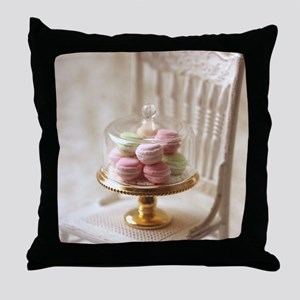 Elegant Macarons Throw Pillow