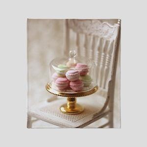 Elegant Macarons Throw Blanket