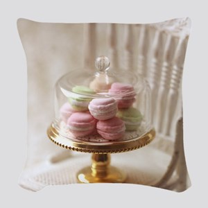 Elegant Macarons Woven Throw Pillow