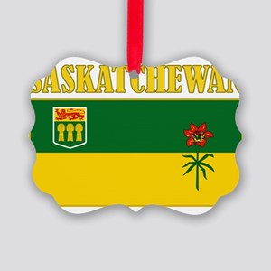 Saskatchewan-Flag Picture Ornament