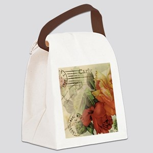 cafemousepadroses Canvas Lunch Bag