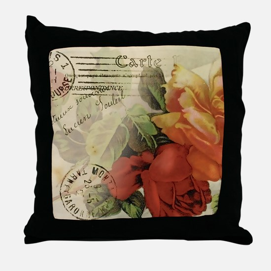 cafemousepadroses Throw Pillow