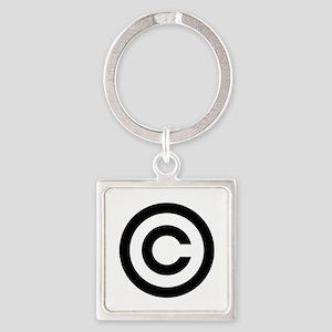 Copyright Square Keychain