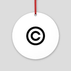 Copyright Round Ornament