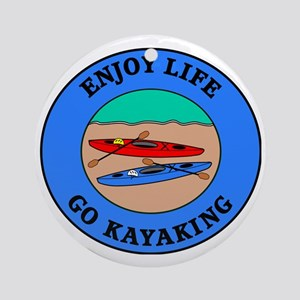 kayaking4 Round Ornament