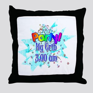 party - my crib Throw Pillow