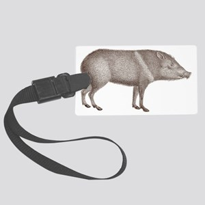 Peccary Pig - Javelina Large Luggage Tag