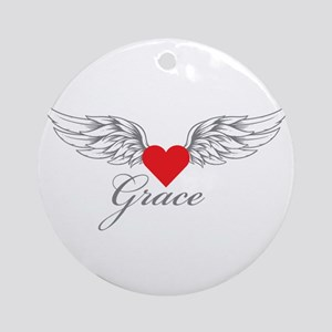 Angel Wings Grace Ornament (Round)