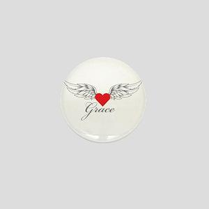 Angel Wings Grace Mini Button