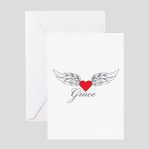 Angel Wings Grace Greeting Cards