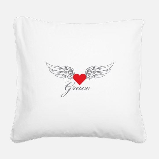 Angel Wings Grace Square Canvas Pillow