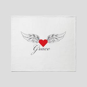 Angel Wings Grace Throw Blanket
