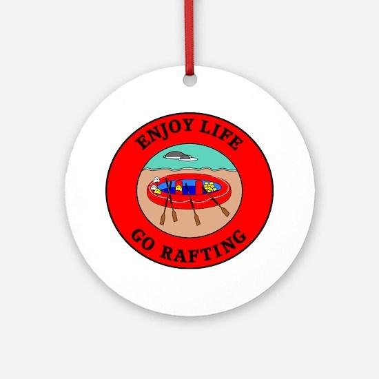 rafting2 Round Ornament
