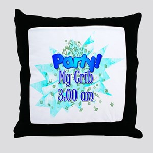 party - my crib - boy Throw Pillow