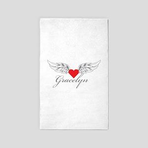 Angel Wings Gracelyn 3'x5' Area Rug