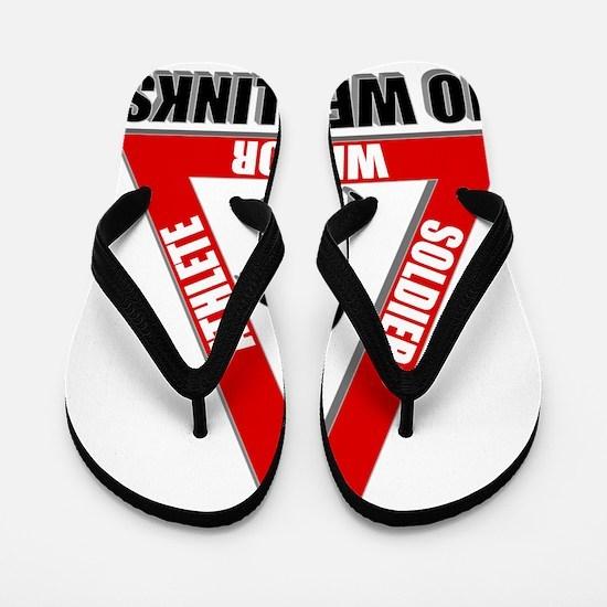 SoliderAthleteWarrior-Red-NoWeakLinks30 Flip Flops