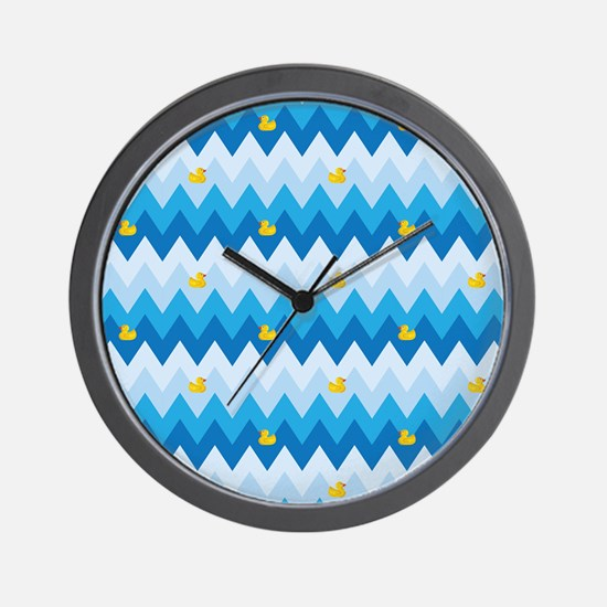 Ducky Delight Chevron Pattern Wall Clock