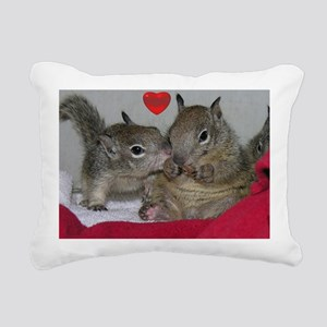 Valentine Squirrels Rectangular Canvas Pillow