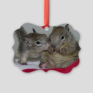 Valentine Squirrels Picture Ornament