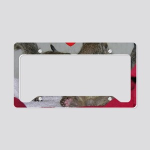 Valentine Squirrels License Plate Holder