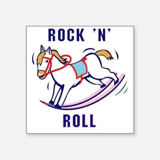 "Rockin-Roll Square Sticker 3"" x 3"""