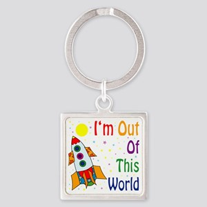 Im-Out-Of-This-World Square Keychain