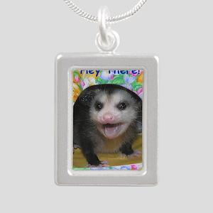 Possum Birthday Card - H Silver Portrait Necklace