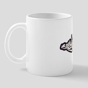 tunny white letters Mug