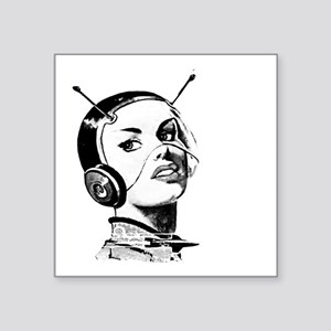 "Spacegirl Square Sticker 3"" x 3"""