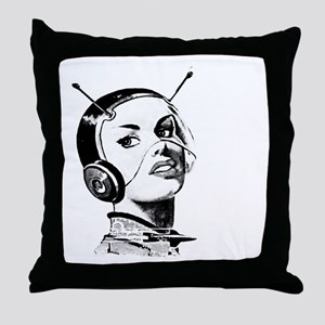 Spacegirl Throw Pillow