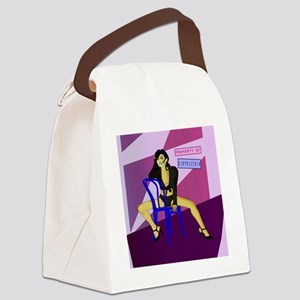 purple_retro_art Canvas Lunch Bag