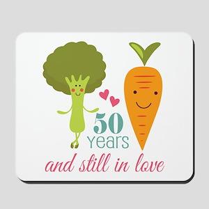 50 Year Anniversary Veggie Couple Mousepad