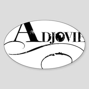 adjovie_logo4 Sticker (Oval)