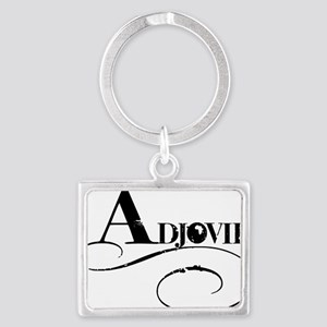 adjovie_logo4 Landscape Keychain