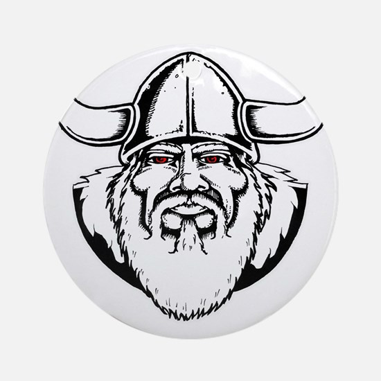 gratner viking red eye Round Ornament
