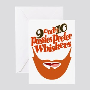 PUSSIES PREFER WHISKERS 3 Greeting Card